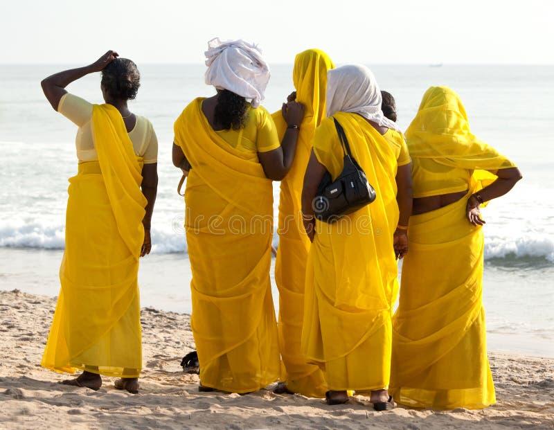 Peregrinos en el peregrinaje anual de Sivagiri fotos de archivo