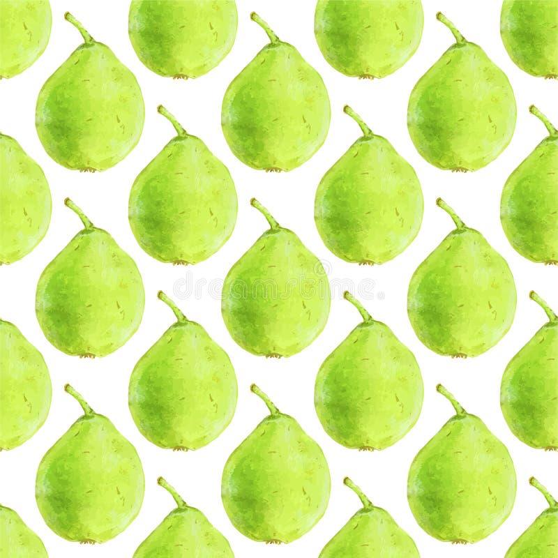 Peren Naadloos patroon met vruchten Hand-drawn achtergrond Vector illustratie vector illustratie