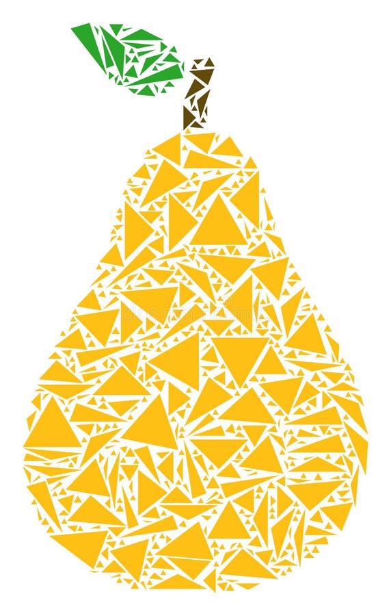Perenmozaïek van Driehoeken vector illustratie