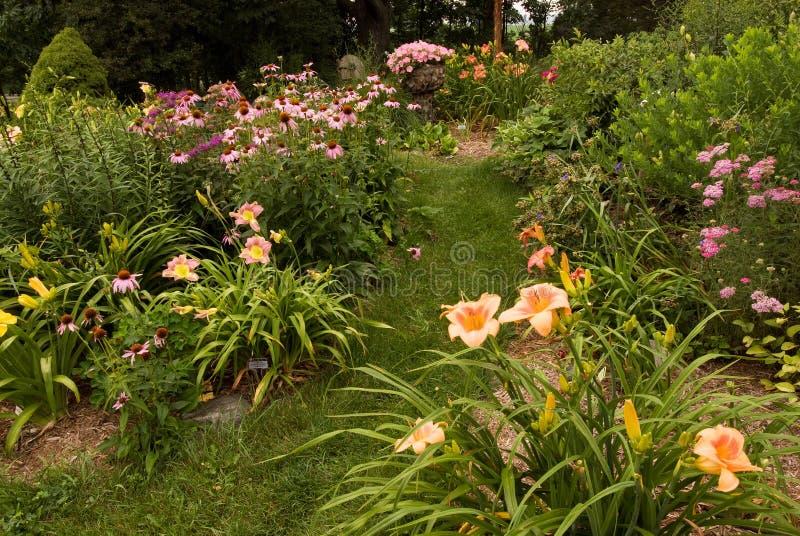 Perennträdgård I Southwest Michigan Arkivbild