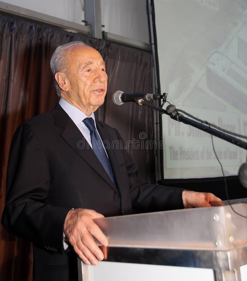 peres izraelski prezydent Shimon fotografia royalty free