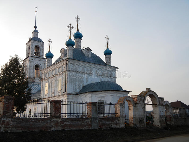 Pereslavl Zalessky雅罗斯拉夫尔市地区的保佑的维尔京的Nativiti的教会 免版税库存照片