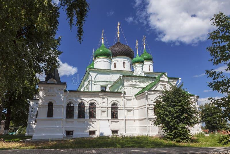 Pereslavl-Zalessky, монастырь ` s женщин Feodorovsky, собор Feodorovsky, зона Yaroslavl стоковое фото rf