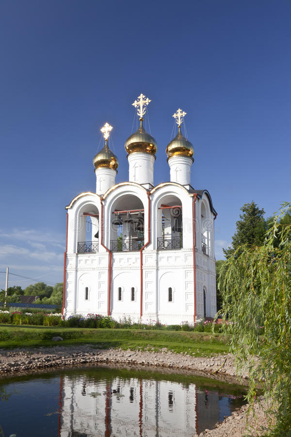 Pereslavl-Zalessky, монастырь St Nicholas, колокольня стоковая фотография rf