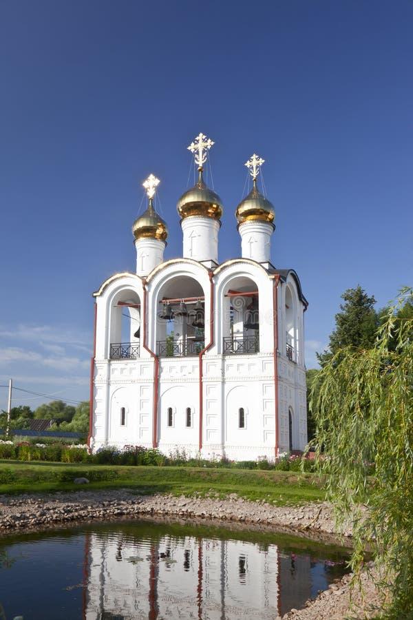 Pereslavl-Zalessky, St Nicholas klasztor dzwonkowy wierza fotografia royalty free
