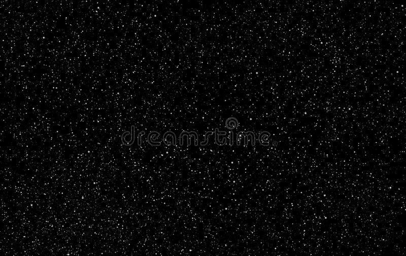 Perfeccione el fondo estrellado del cielo nocturno - backgro del vector del espacio exterior libre illustration