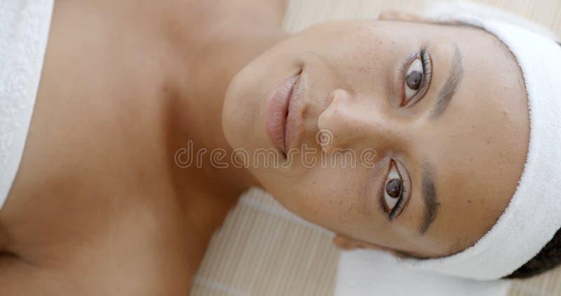 Perfect Świeża skóra Na twarzy obrazy royalty free