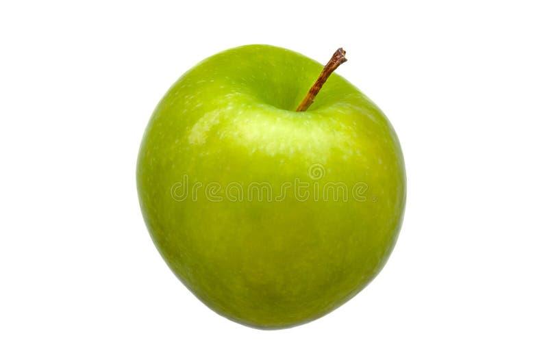Perfect Świeży Zielony Apple Odizolowywający na Białym tle zdjęcia royalty free