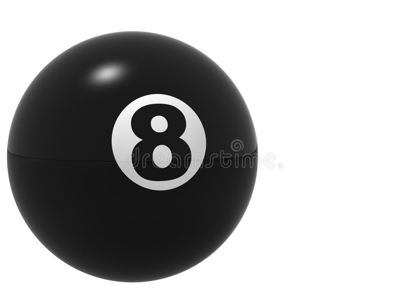 The Perfect 8 Ball royalty free stock photo