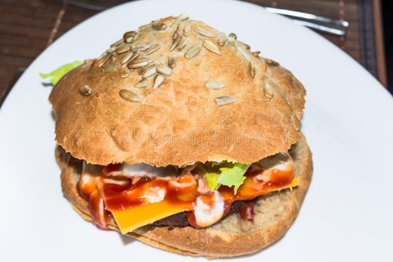 Perfect american vegetarian Burger. Perfect new american vegetarian Burger stock photos