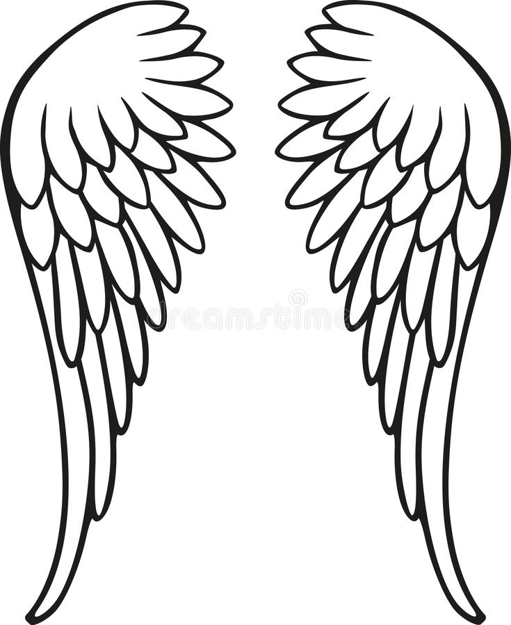 Perfect angel wings. Heaven vector royalty free illustration