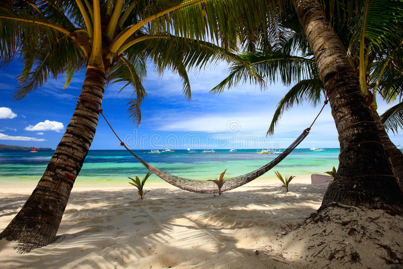 Download Perfect beach stock image. Image of hammock, philippines - 14342543