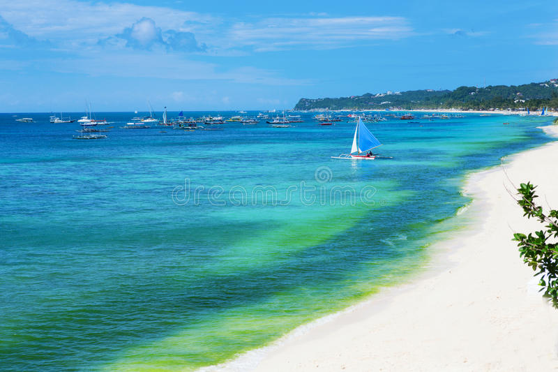 Perfect beach of Boracay island stock image