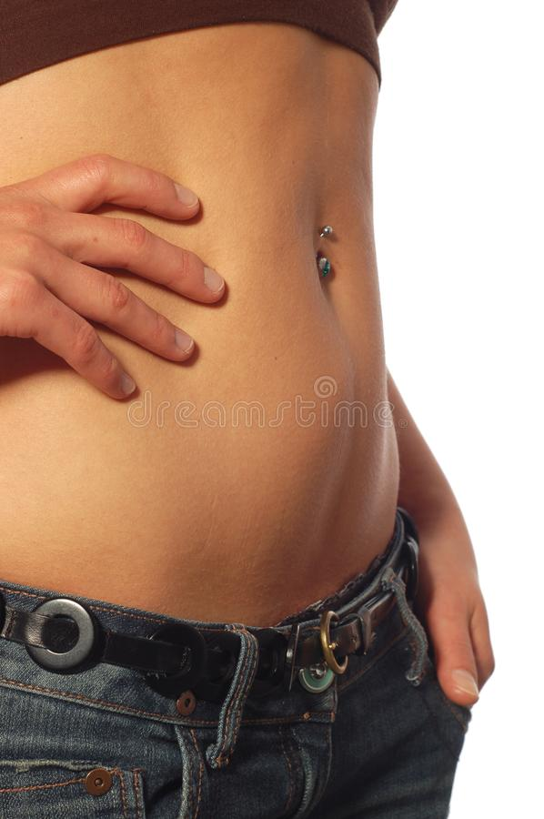 Perfect belly royalty free stock image