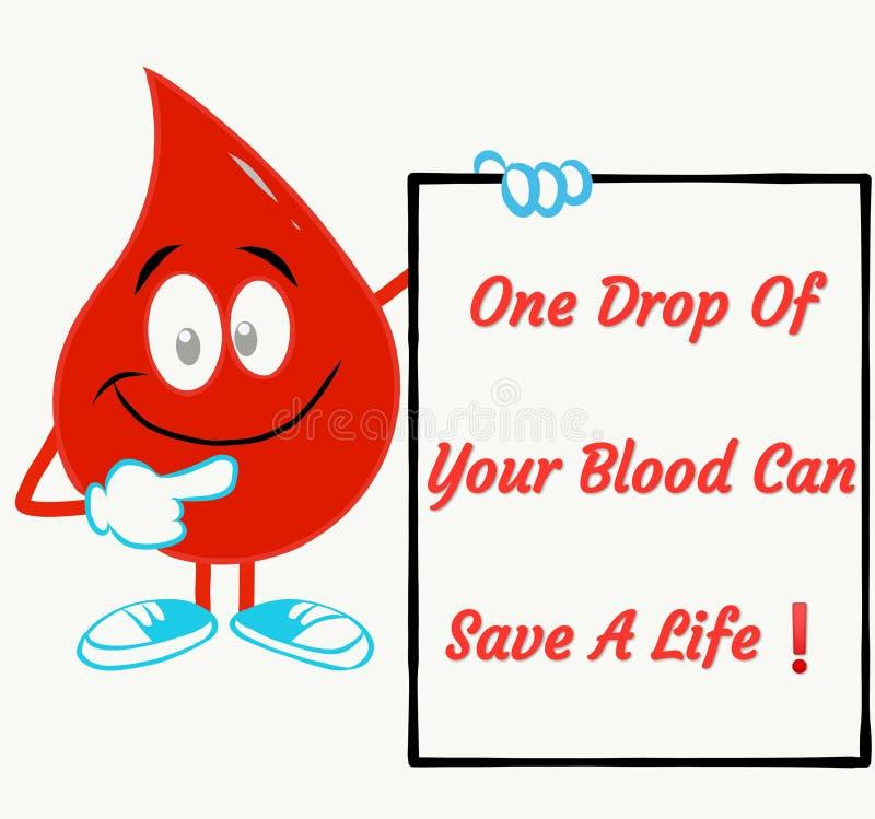 Inspirational phrase for blood donation vector illustration