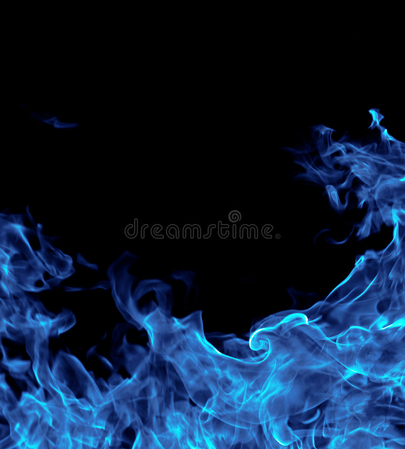 Perfect blue fire background royalty free stock image
