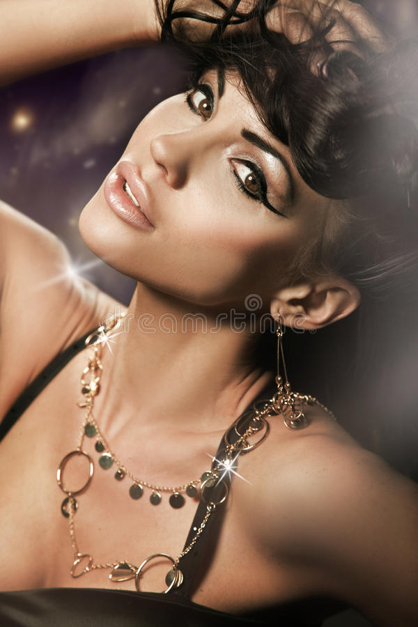 Download Perfect brunette beauty stock image. Image of elegant - 14819911