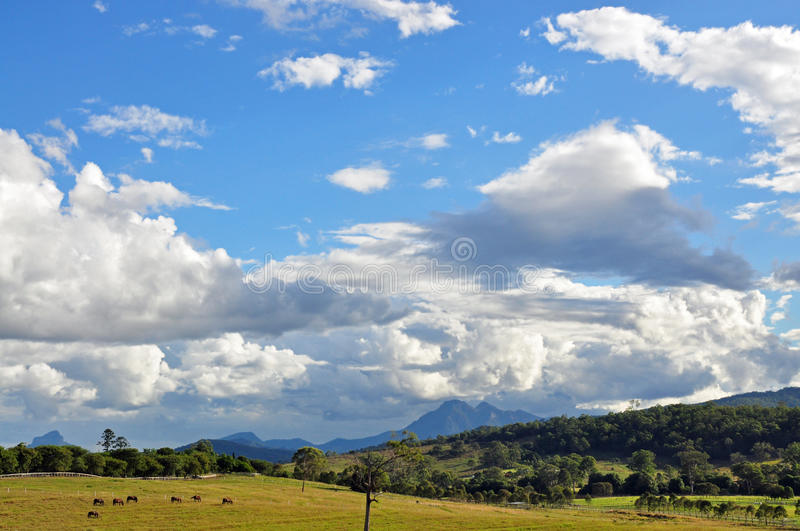 A perfect day in the country stock photo