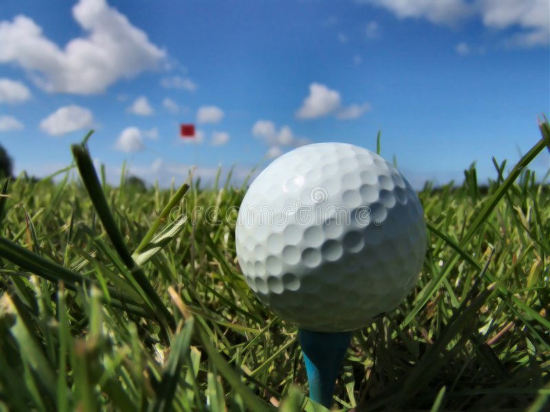 A perfect day for golf royalty free stock photo