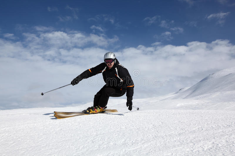 Perfect day for skiing royalty free stock photography