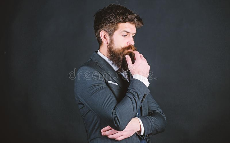 Perfect elegant tuxedo outfit. Elegancy and male style. Fashion concept. Guy wear formal outfit. Businessman fashionable royalty free stock images