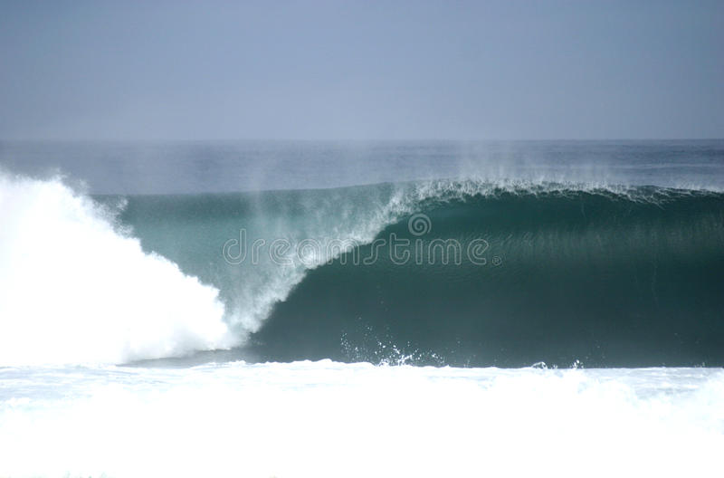 Perfect empty wave breaking in Chile royalty free stock image