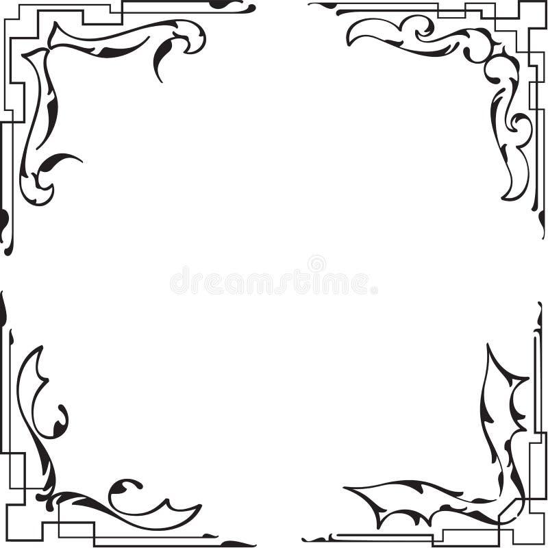 Perfect fenomenalni roczników kąty ustawiający royalty ilustracja