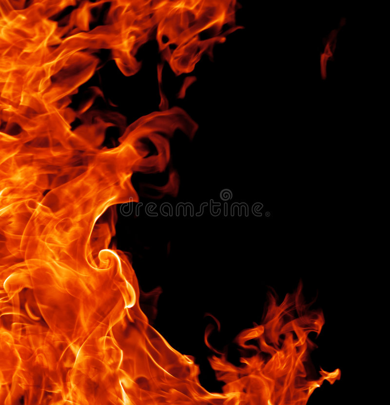 Perfect fire background stock photography