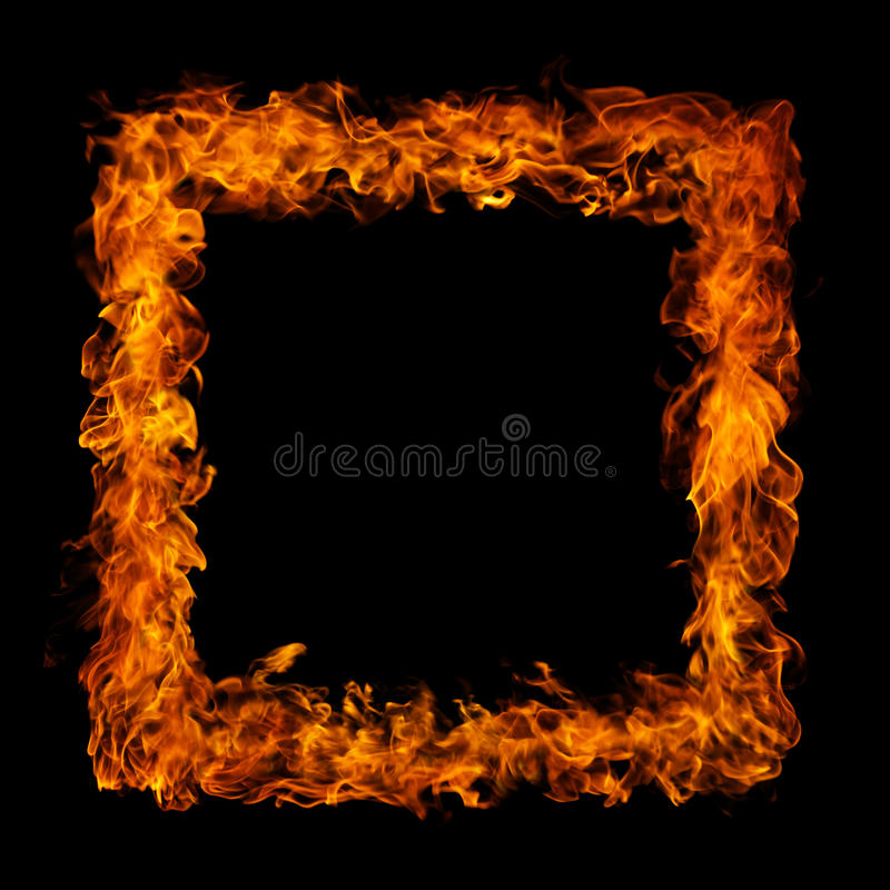 Download Perfect Fire On Black Background Stock Photo - Image of flammable, black: 15549820