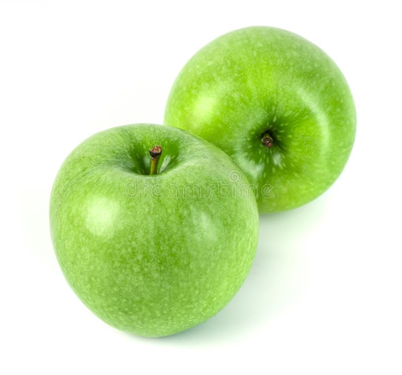 Perfect Fresh Green Apple Isolated on White Background.  stock images