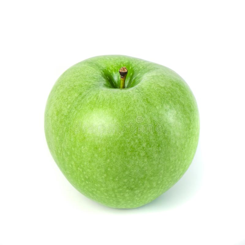 Perfect Fresh Green Apple Isolated on White Background.  stock photography