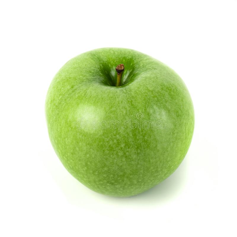 Perfect Fresh Green Apple Isolated on White Background.  stock photo