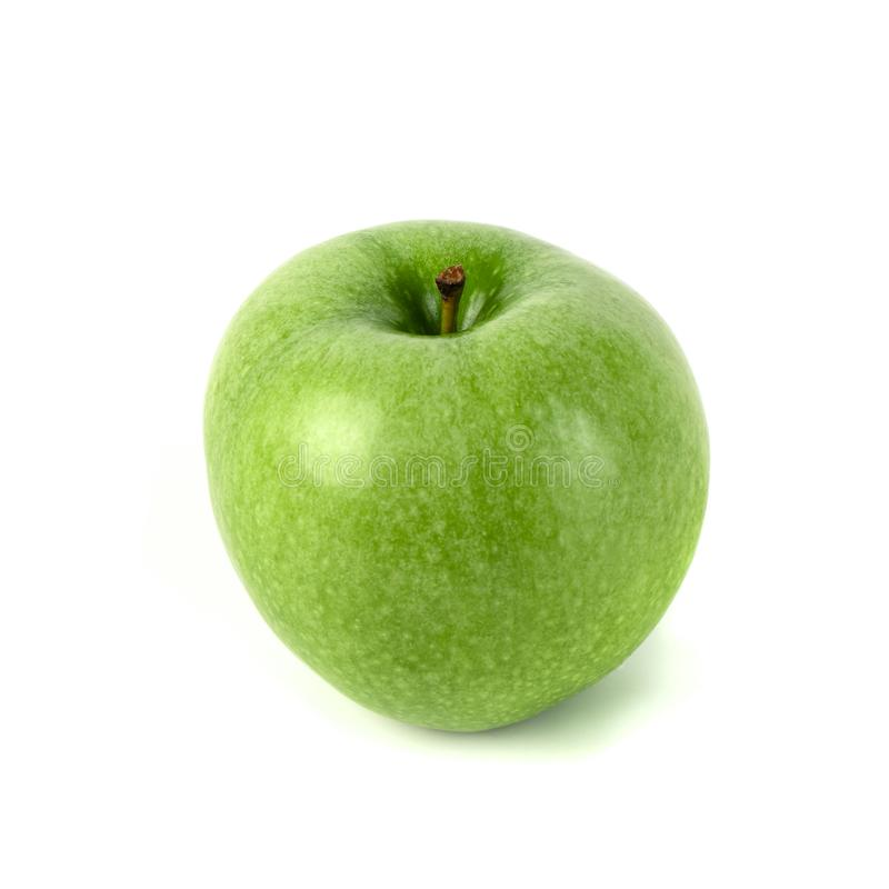 Perfect Fresh Green Apple Isolated on White Background.  stock photos