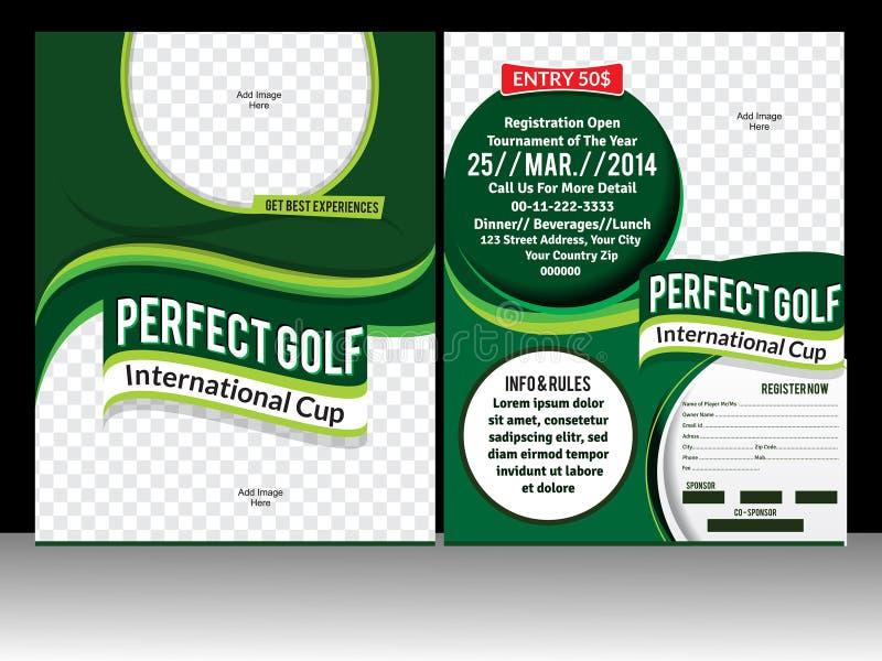 Perfect golf flyer template. Vector illustration stock illustration