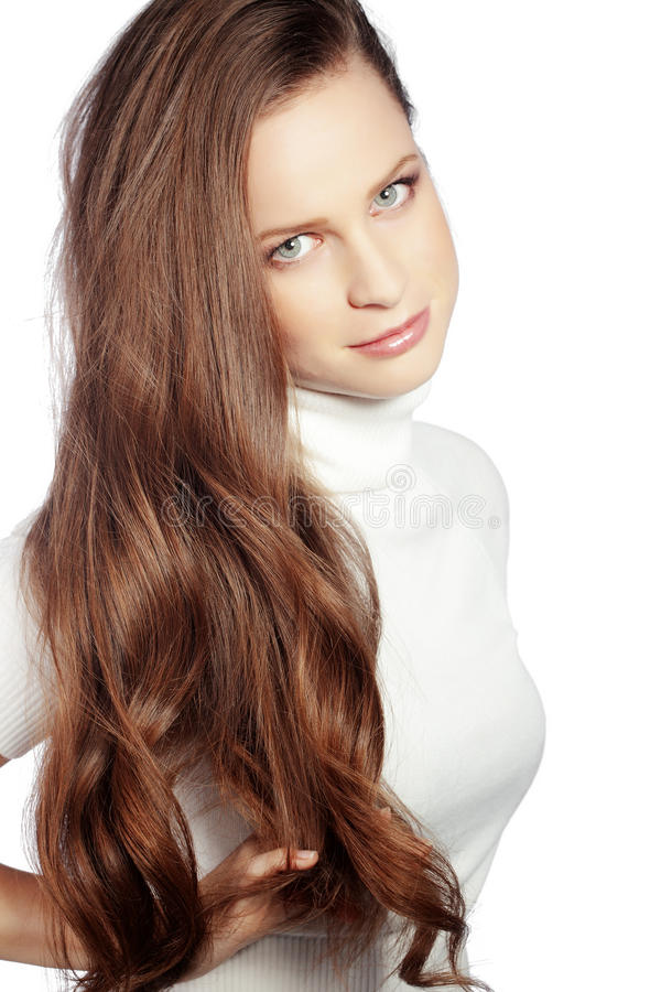 Download Perfect hair stock image. Image of brunette, hair, looking - 28698981
