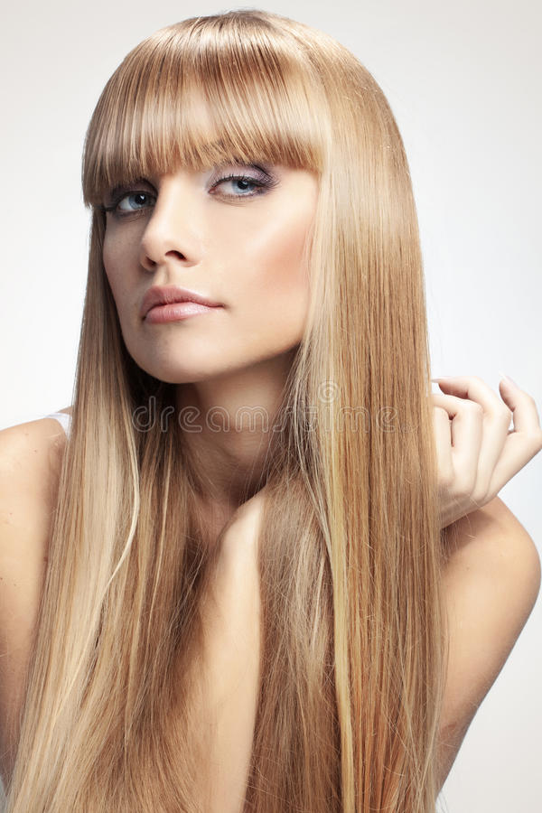 Perfect hair royalty free stock images