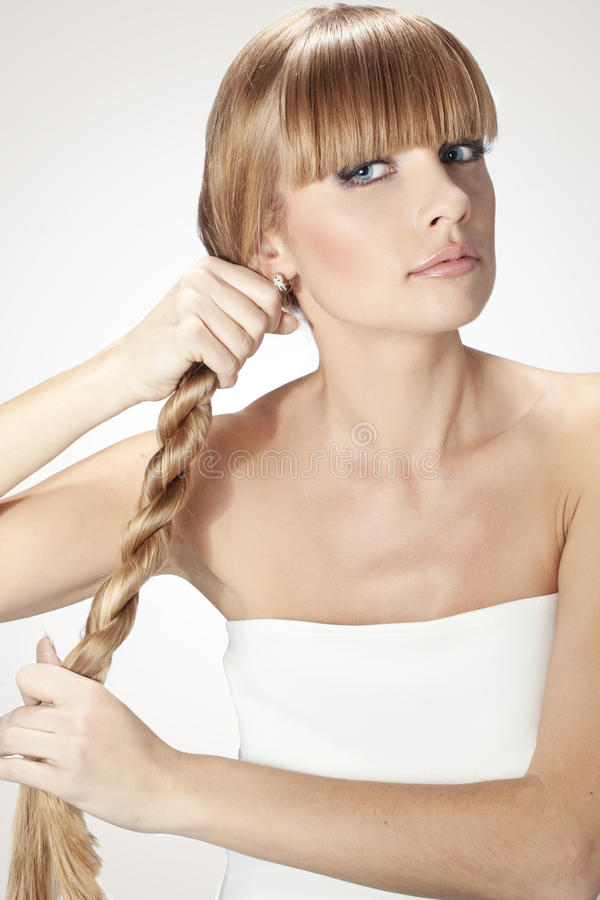 Perfect hair royalty free stock image