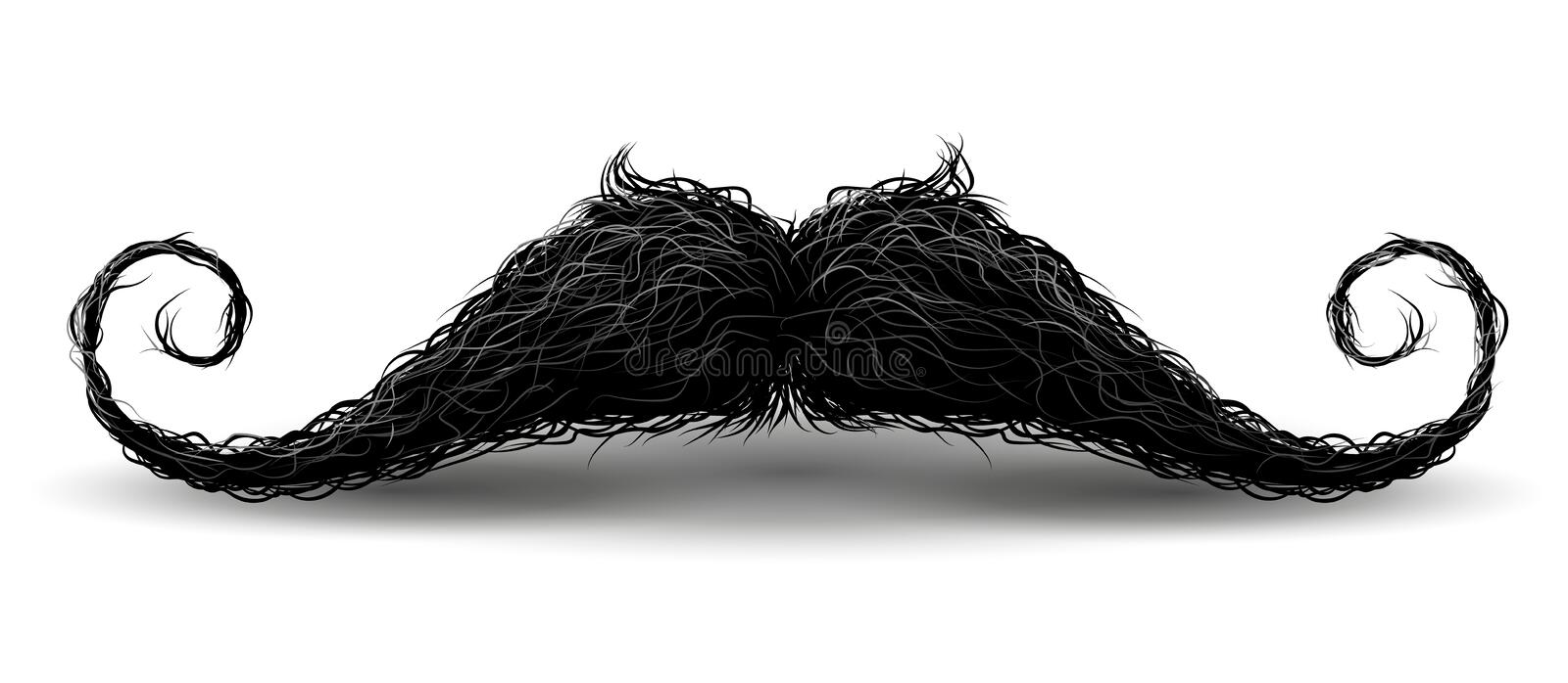 Perfect hipster mustache. Illustration with charm, Isolated on white background. Perfect hipster mustache. Illustration with charm. Isolated on white background vector illustration
