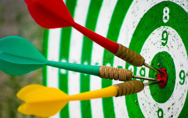 Perfect hit on target stock image