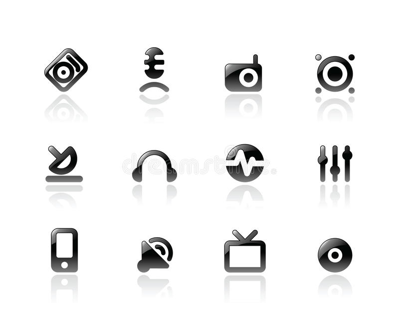 Download Perfect Icons For Media And Sound Royalty Free Stock Photo - Image: 13604215