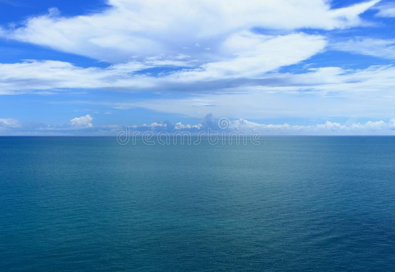 Background of sea and cloudy sky royalty free stock photos