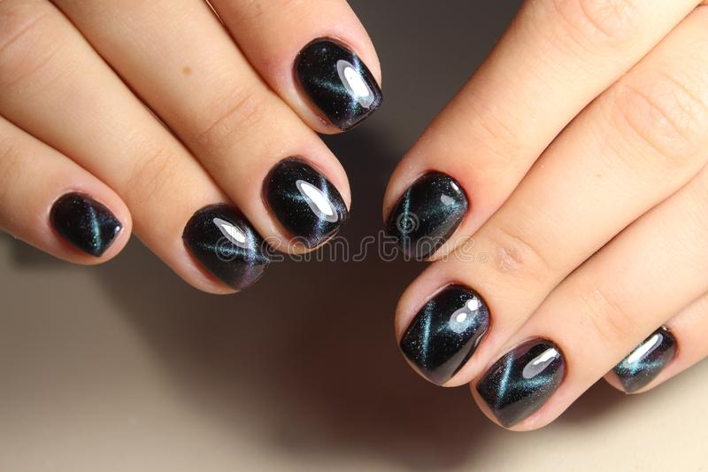Perfect Manicure And Natural Nails. Stock Image - Image of closeup ...