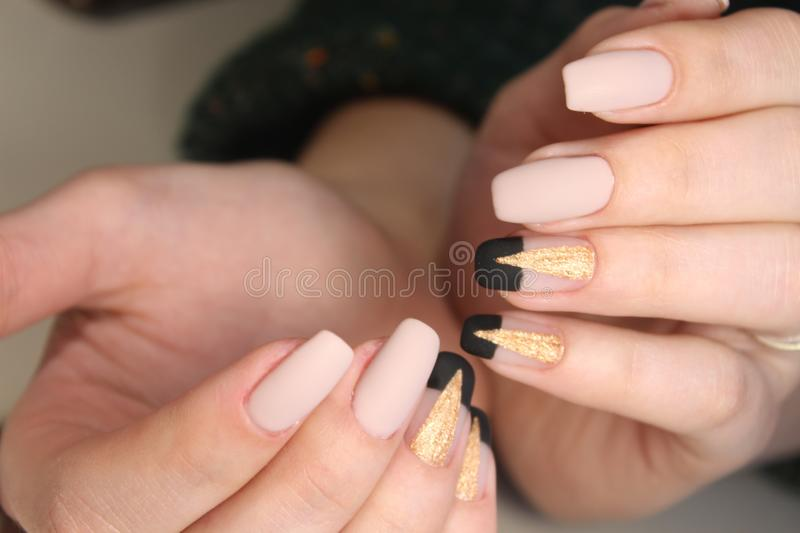Perfect Manicure And Natural Nails. Stock Photo - Image of french ...