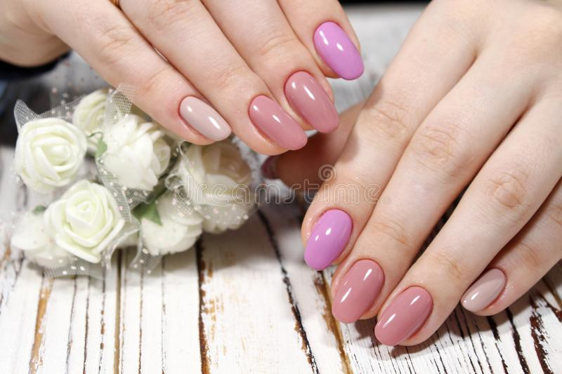 Perfect Manicure And Natural Nails. Stock Photo - Image of manicure ...
