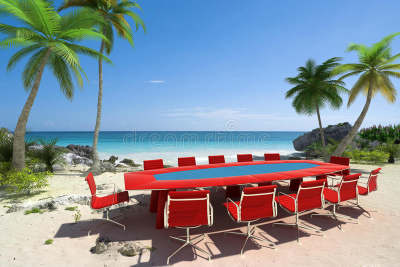 Download Perfect meeting stock illustration. Illustration of paradise - 12868492