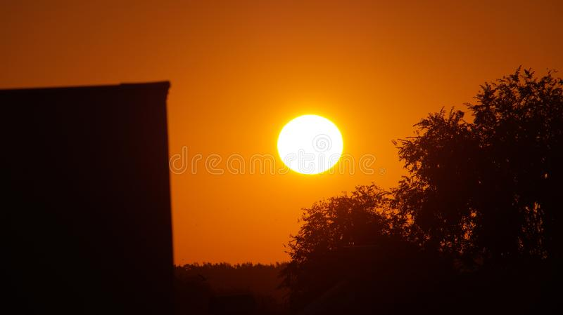 Perfect morning in town royalty free stock photography