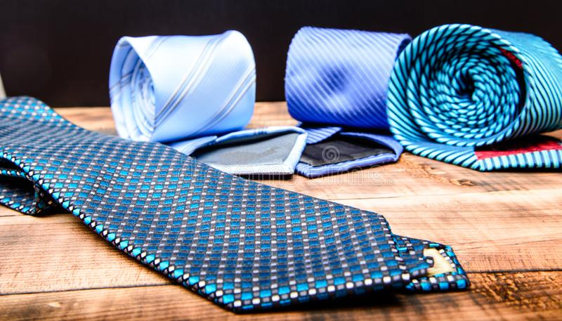 Perfect necktie close up. Shopping concept. Personal stylist service. Stylist advice. Matching necktie with outfit. Pick royalty free stock photography
