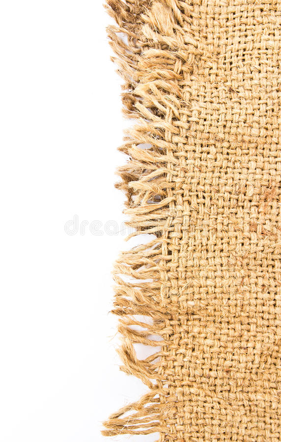 Perfect old cloth sack isolated stock images