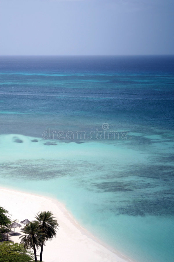 Download Perfect place stock photo. Image of beach, palm, colour - 3909260