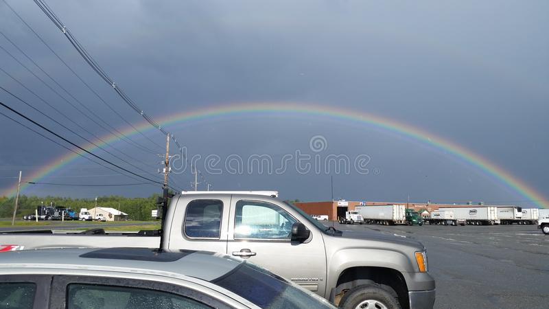 The perfect rainbow stock photography